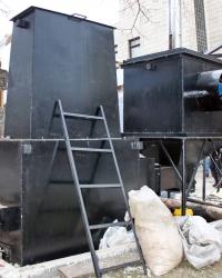 Пиролизный газогенератор для сжигания древесных отходов