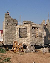 Строительство дома из арболитовых блоков