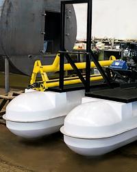 Пластиковые поплавки для платформы миниземснаряда
