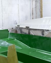 Производство катера из стеклопластика