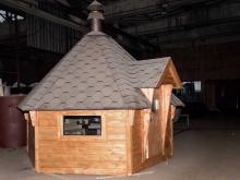 Собранный гриль домик