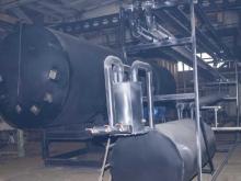 Готовая ротационная пиролизная печь с охладителем и накопителем