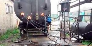 Пиролизная установка для утилизации мусора